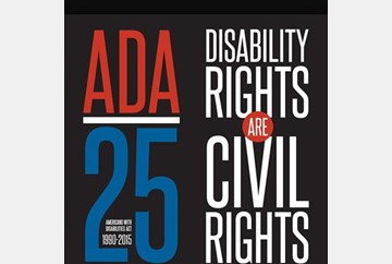 ADA25 logo disability rights are civil rights
