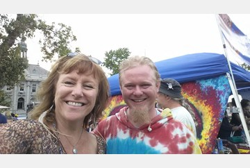 Met a face book friend @shakedownstreetfest