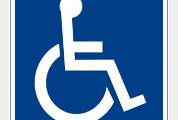 Disability symbol used on Parking spaces