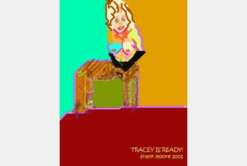 """""""Tracey Is Ready!"""", digital painting, 2001 by Frank Moore"""