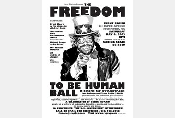 The Freedom to be Human Ball, poster art by LaBash