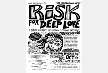 """Risk for Deep Love"" 10/6/12, poster art by LaBash"