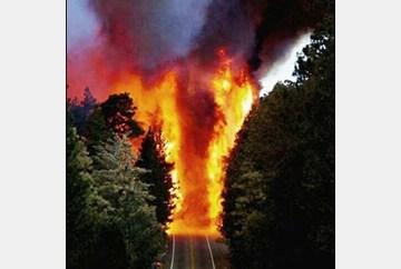 Hwy 175 Consumed in Firestorm