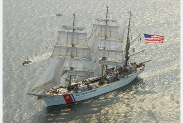 The U.S. Coast Guard Eagle will be part of OpSail's Parade of Sail.