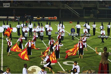 Grafton Homecoming Game halftime performance by the Clipper Marching Band