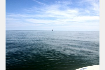Thimble Shoal Light on rare calm day