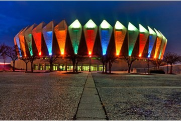 Hampton Coliseum with Colors