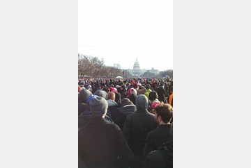 Hampton University students attend the U.S. Presidential Inaugural Ceremonies