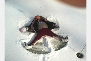 Of course snow angels had to be made