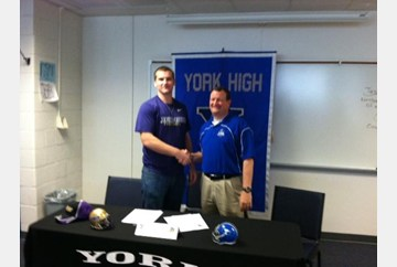 Henderickson signed with James Madison on Wednesday. His coach at York is Doug Periera
