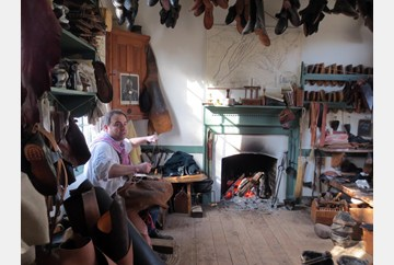 A Visit to the Shoemakers' Shoe in Colonial Williamsburg.