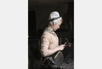 Visit to the Blacksmith in Colonial Williamsburg.
