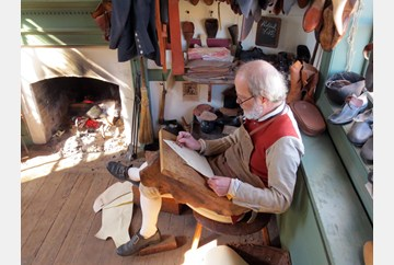 Mid-morning at the Shoemaker's Shop
