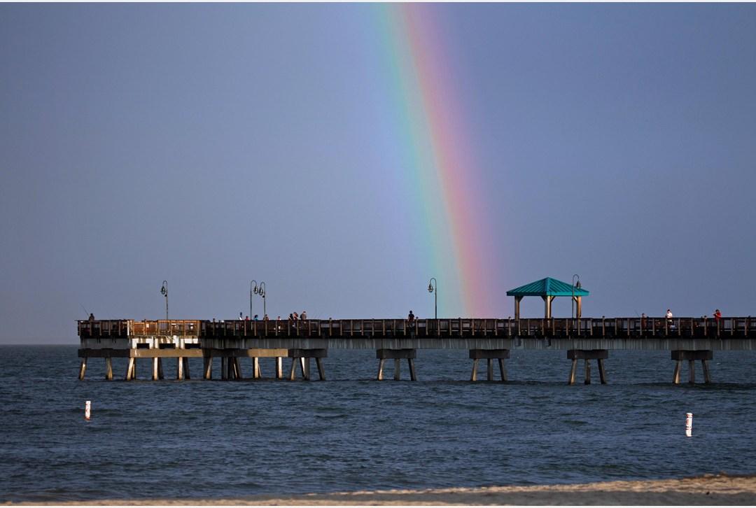 Daily press rainbow at buckroe beach for Buckroe beach fishing pier