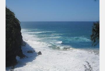 Hanakapiai beach from the trail